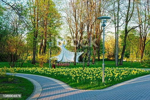 Druskininkai, Lithuania - April 28, 2014: Sculpture in the park in Druskininkai, Lithuania.