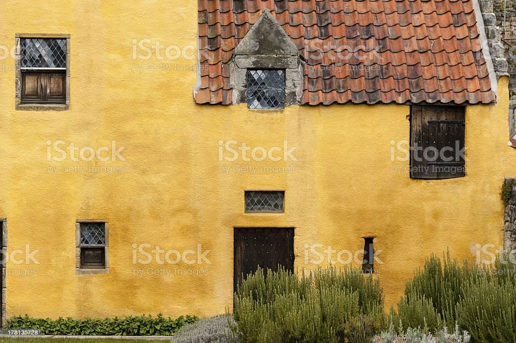 Culross Palace, front elevation. royalty-free stock photo