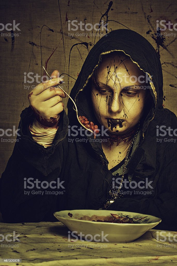 Cultist's breakfast stock photo