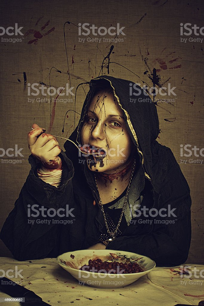 Cultists's breakfast stock photo