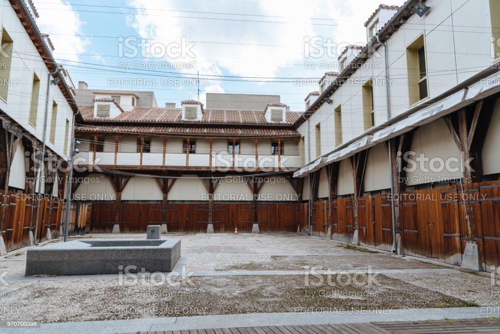 Cultural Center La Corrala in Madrid stock photo