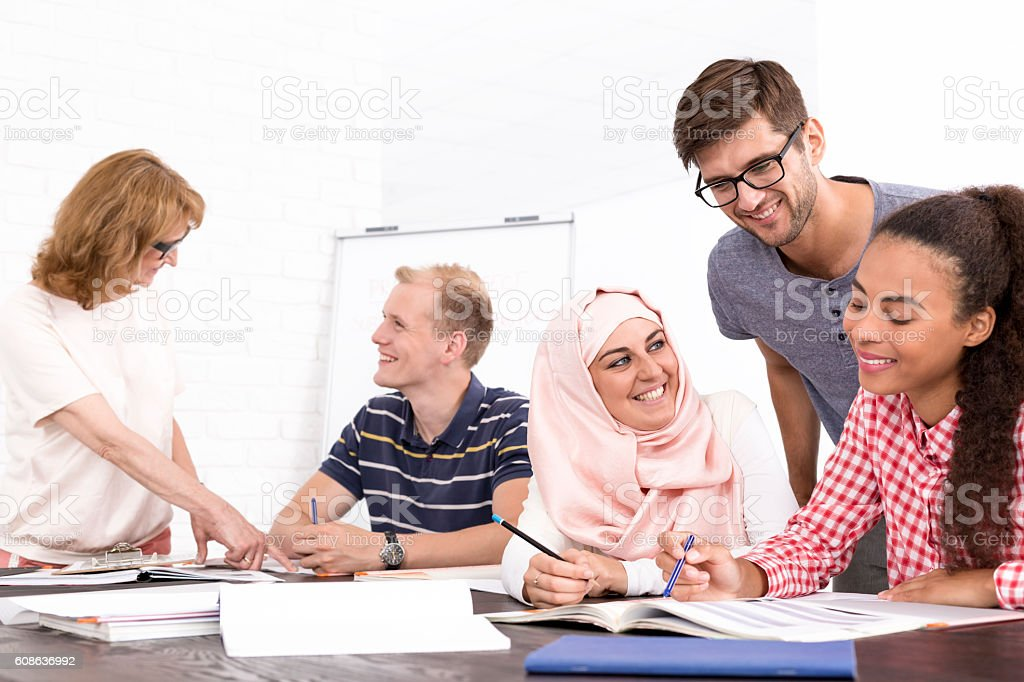 Cultural differences in the workplace stock photo