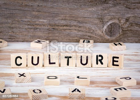 istock Culture from wooden letters 637080884
