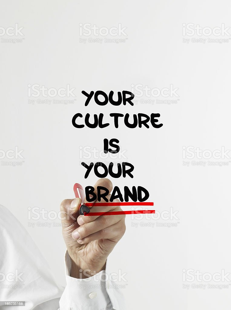 Culture Is Brand stock photo
