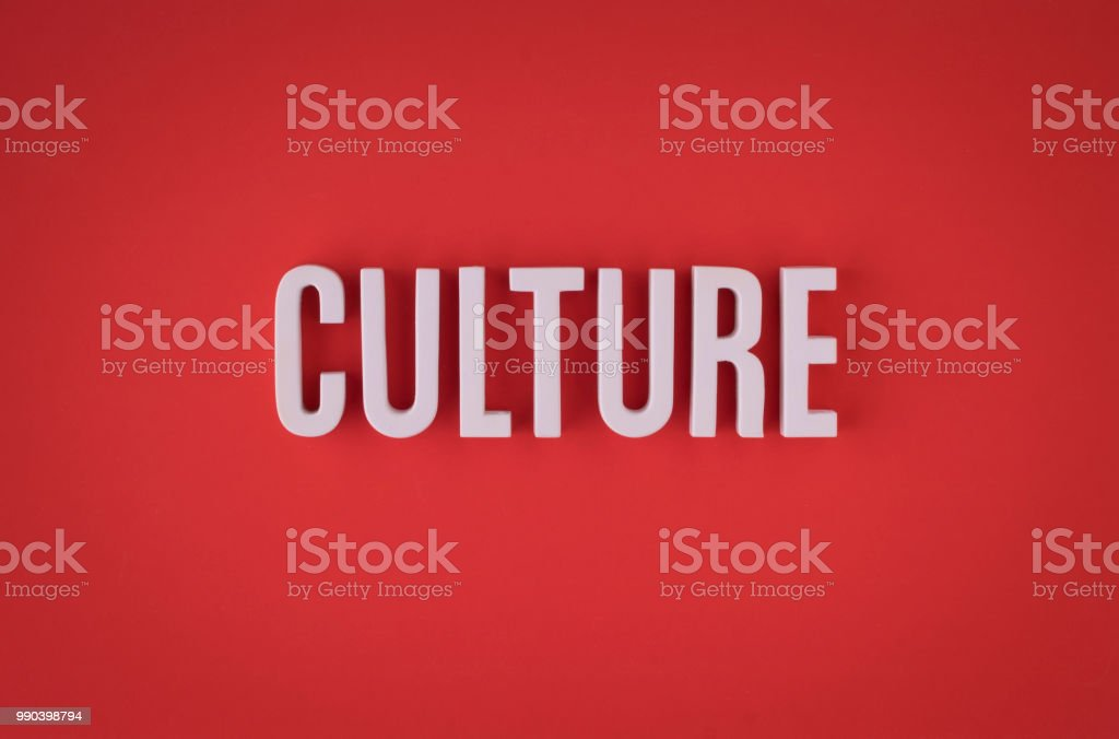 Culture lettering sign stock photo