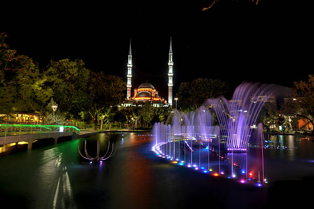 Culture Park Caesar,pool,Mosque,night,tree,Sky,beautiful,Culture Park,selimiye Mosque,reflection,place,Blue,Granite,ince minare Museum,What,Alaaddin mosque,Solar,Tulip selimiye mosque night stock pictures, royalty-free photos & images