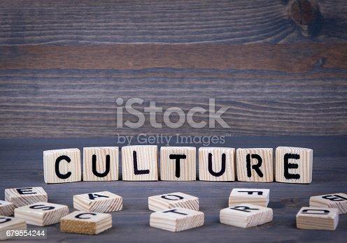 istock Culture word written on wood block 679554244