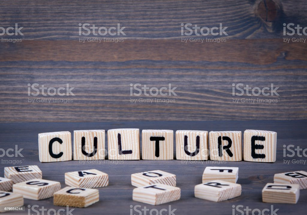 Culture word written on wood block stock photo