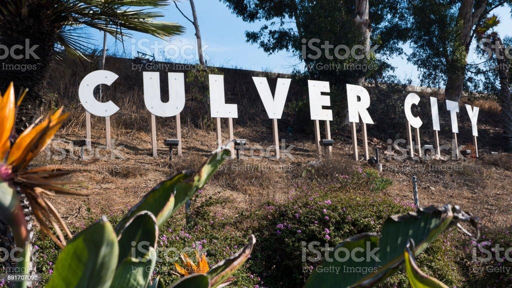 Culver City Sign Los Angeles stock photo