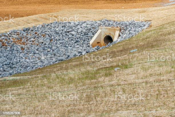 Photo of Culvert and Drainage Ditch Under Construction