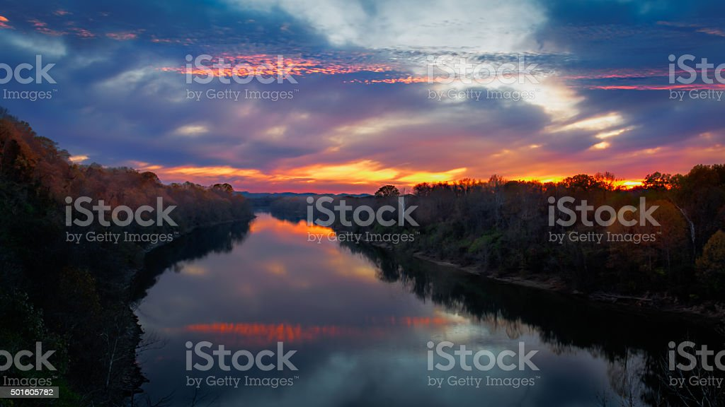 Cumberland at Dusk stock photo