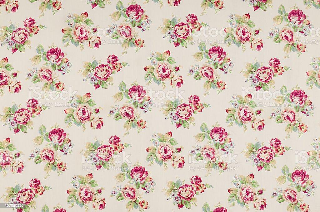 Cumberland Rose Medium Antique Floral Fabric royalty-free stock photo