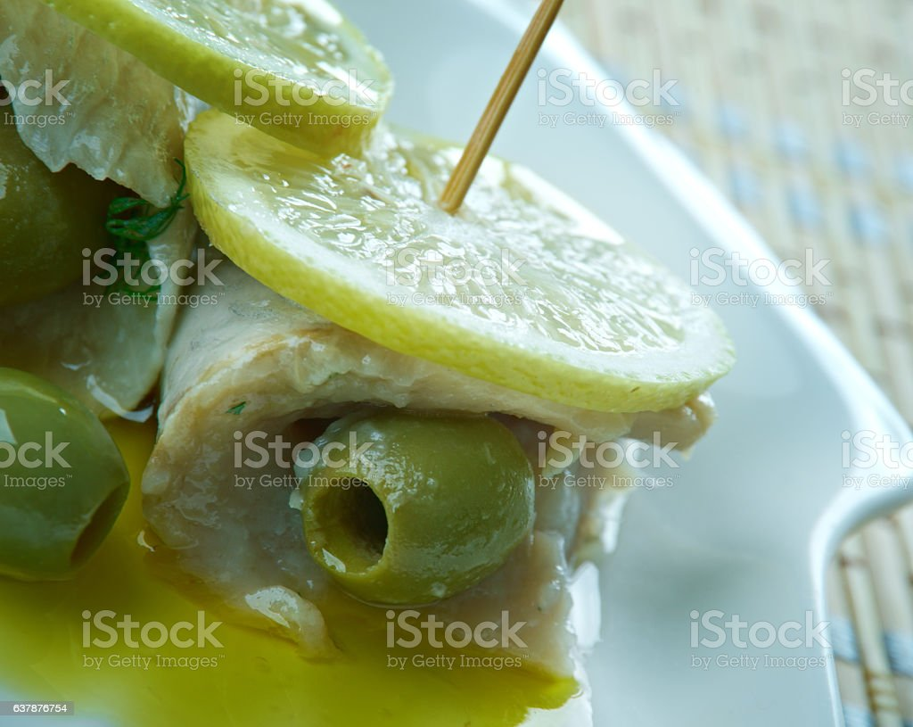 Cumberland Stuffed Herrings stock photo