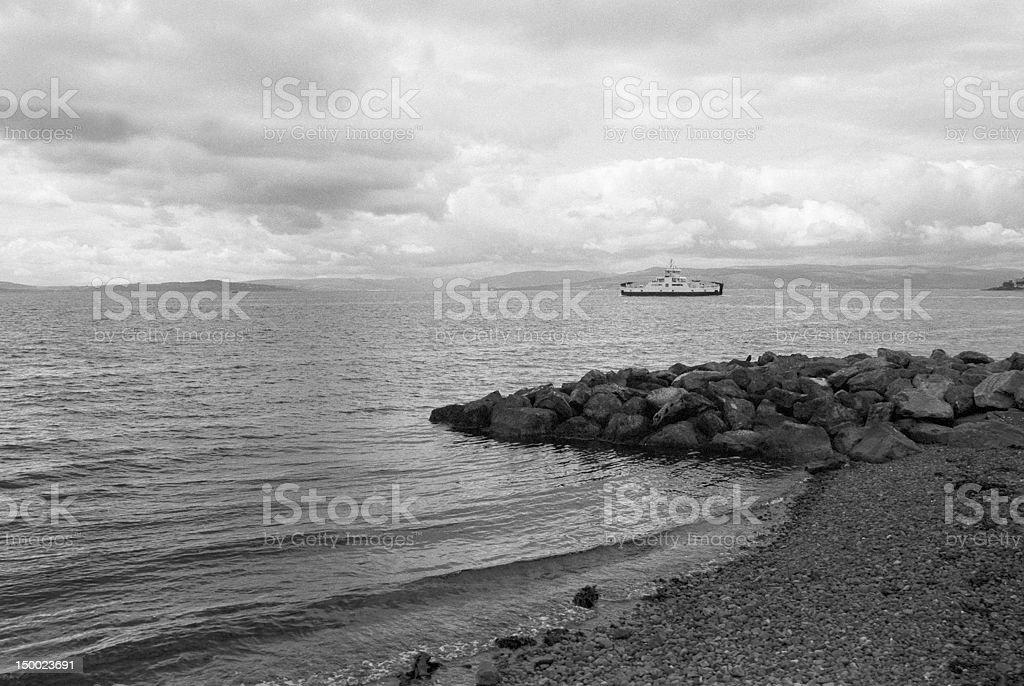 Cumbrae ferry stock photo