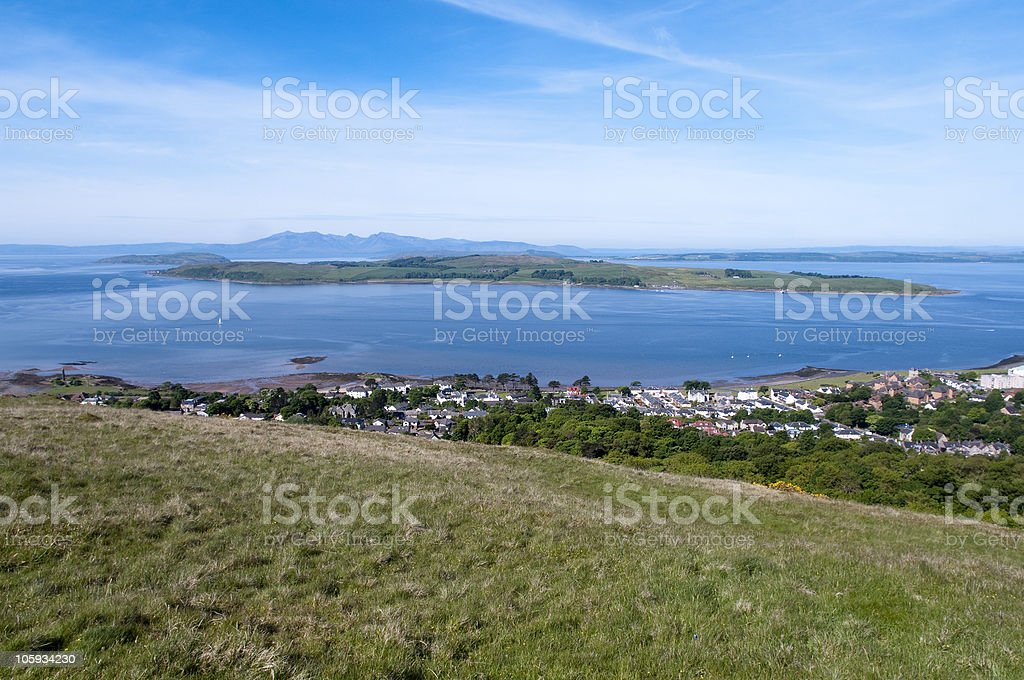 Cumbrae from Castle Hill stock photo