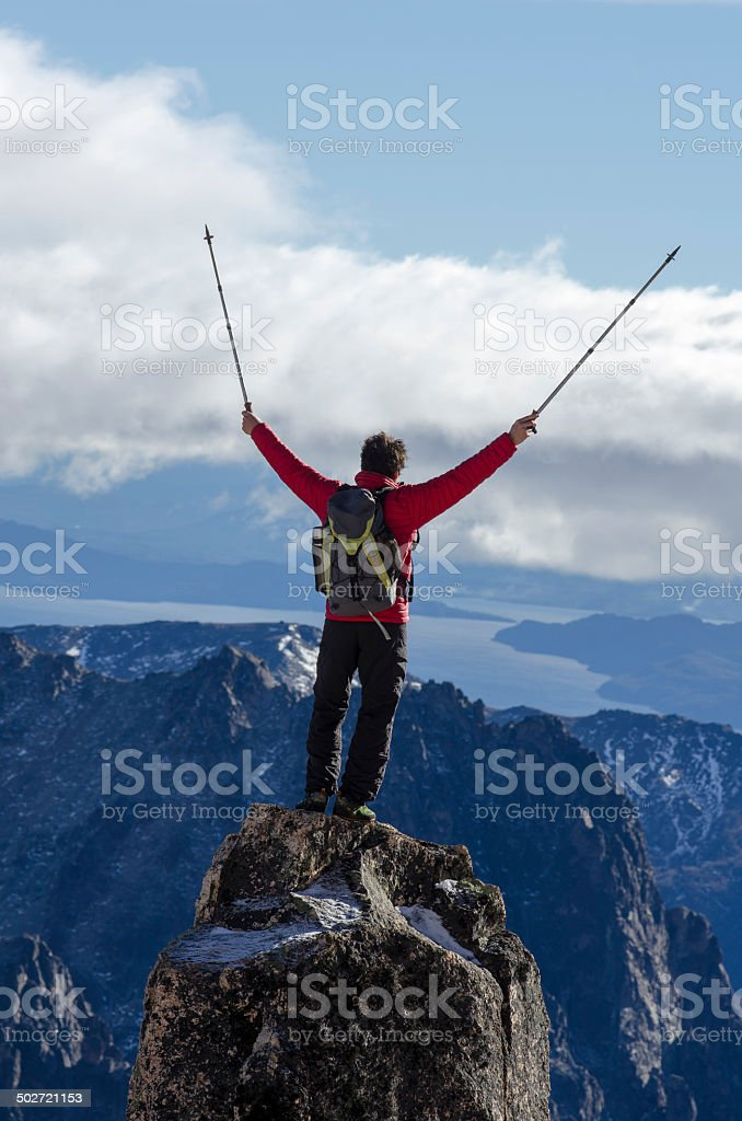 Cumbre en Patagonia stock photo