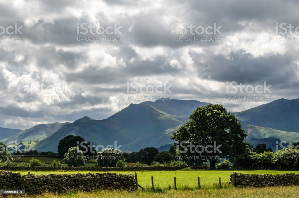 Cumbrea Hills & Mountains England stock photo