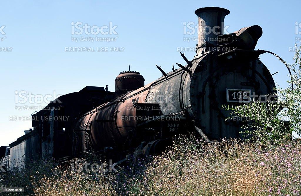 Cumbres and Toltec Scenic Railroad at Chama stock photo