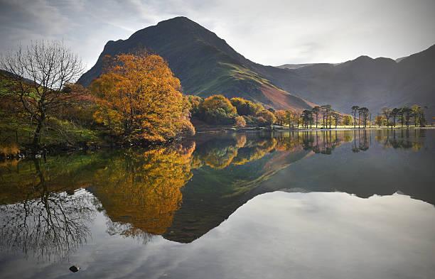 Cumbrian autumn reflections stock photo