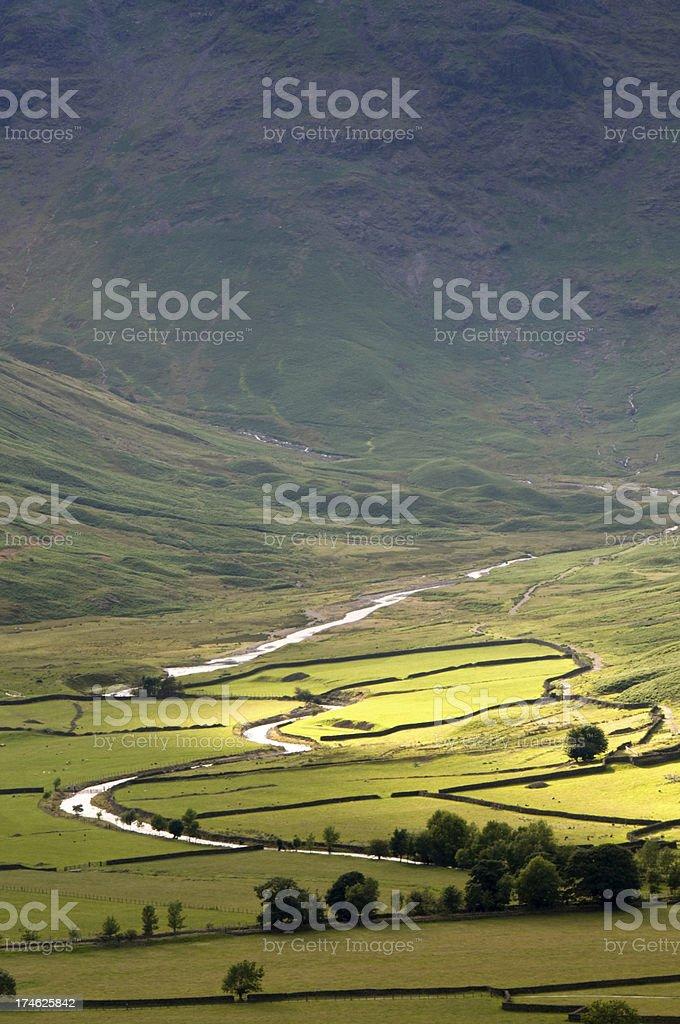Cumbrian Mountain Valley royalty-free stock photo