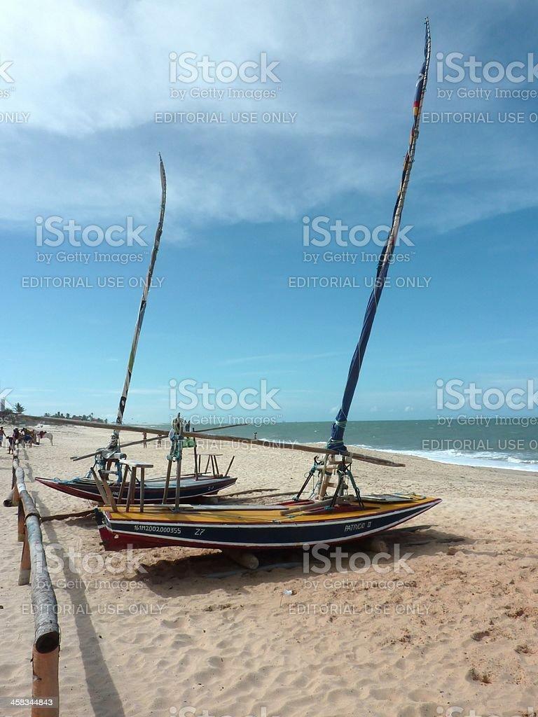 Cumbuco beach, Cearà - Brazil royalty-free stock photo