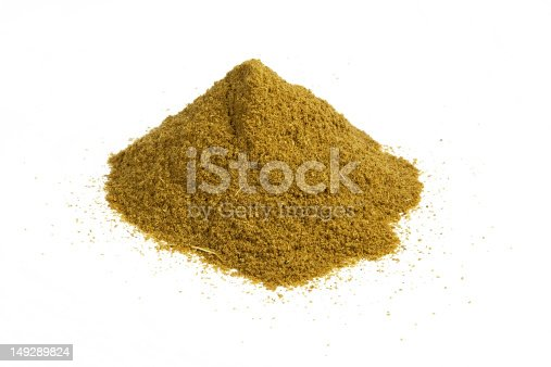 A heap of cumin isolated on white