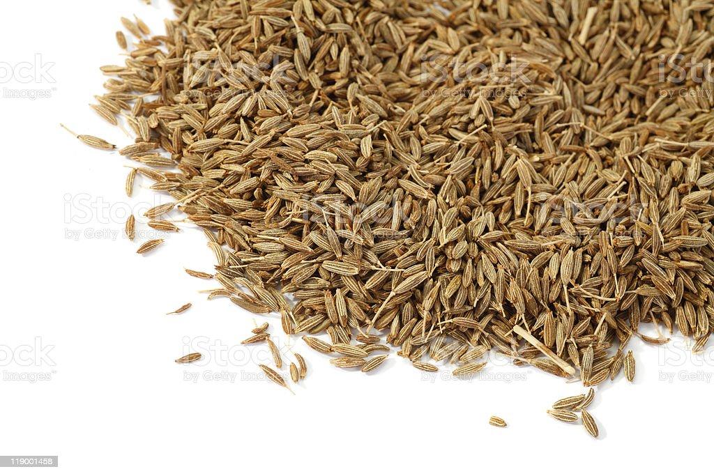 Cumin Seeds  Brown Stock Photo