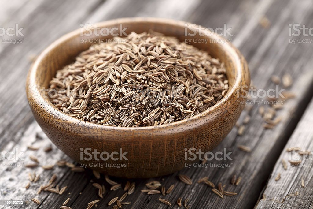 Cumin seeds stock photo