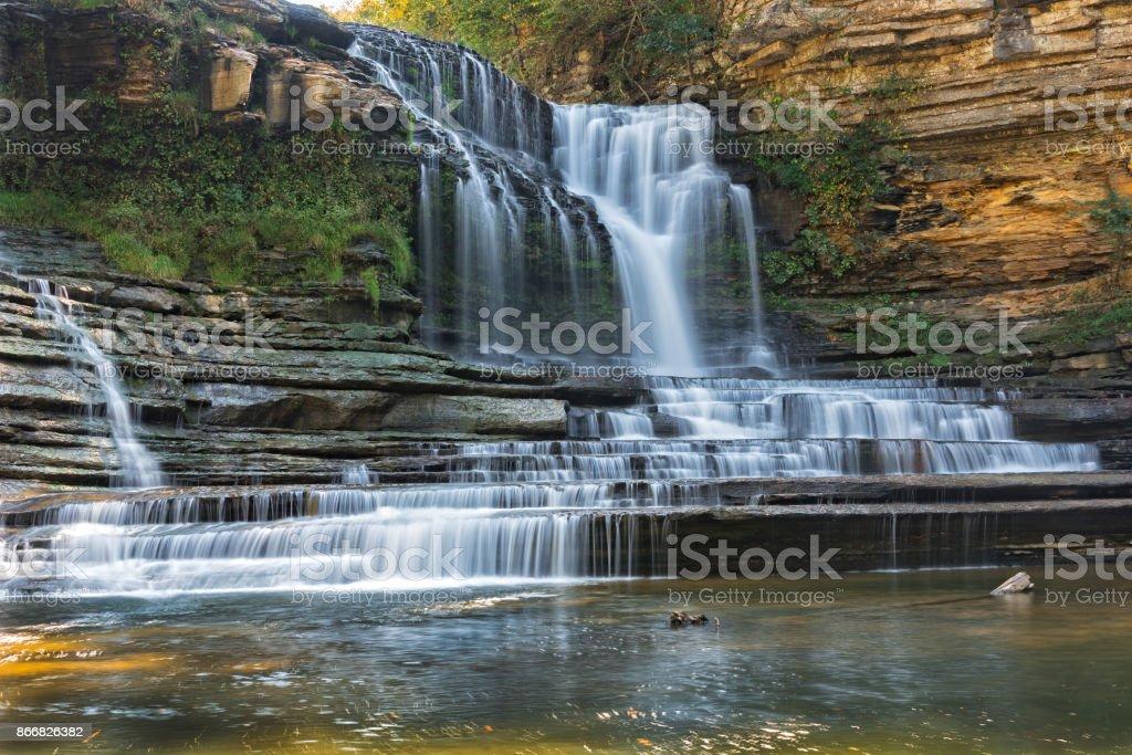 Cummins Falls In Tennessee Cummins Falls At Cummins Falls State Park In Tennessee Cookeville Stock Photo