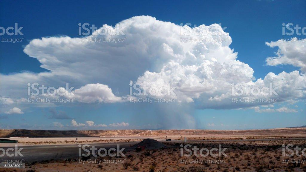 Cummulonimbus cloud near Las Vegas Nevada stock photo
