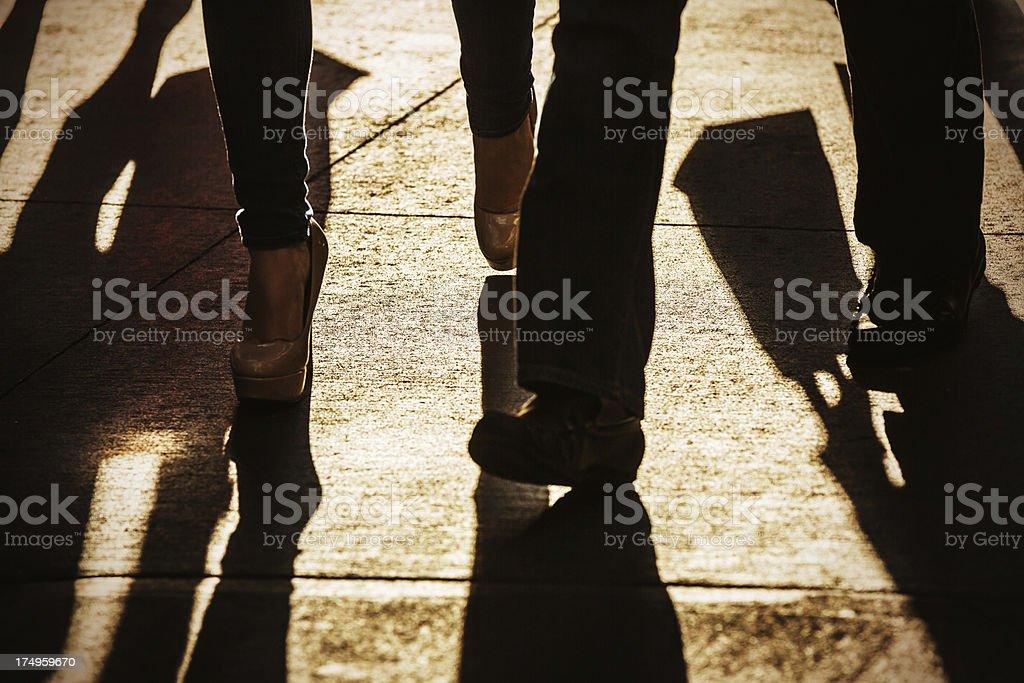 Cummuters in rush hour stock photo
