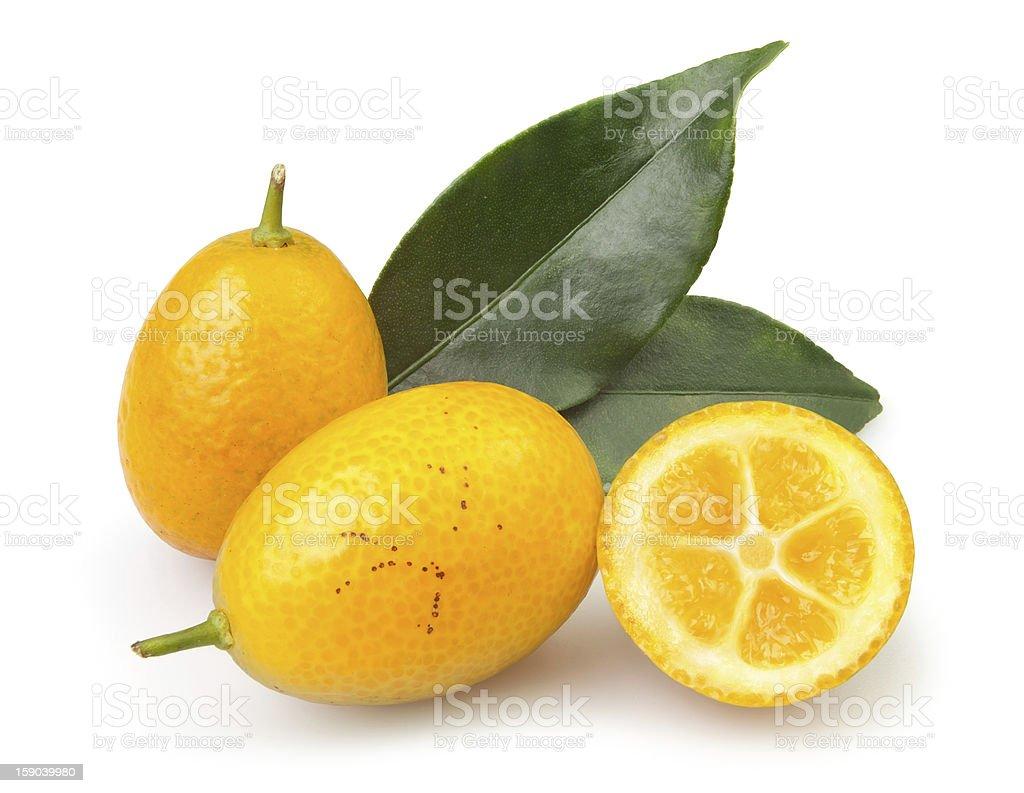 cumquat cut royalty-free stock photo