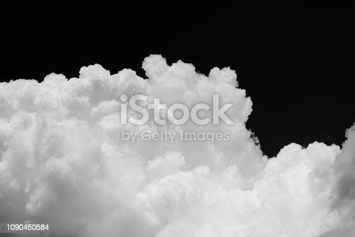 istock Cumulus cloud on black background 1090450584