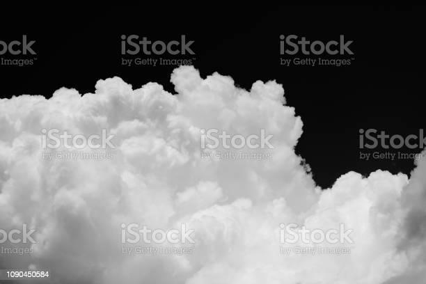 Photo of Cumulus cloud on black background