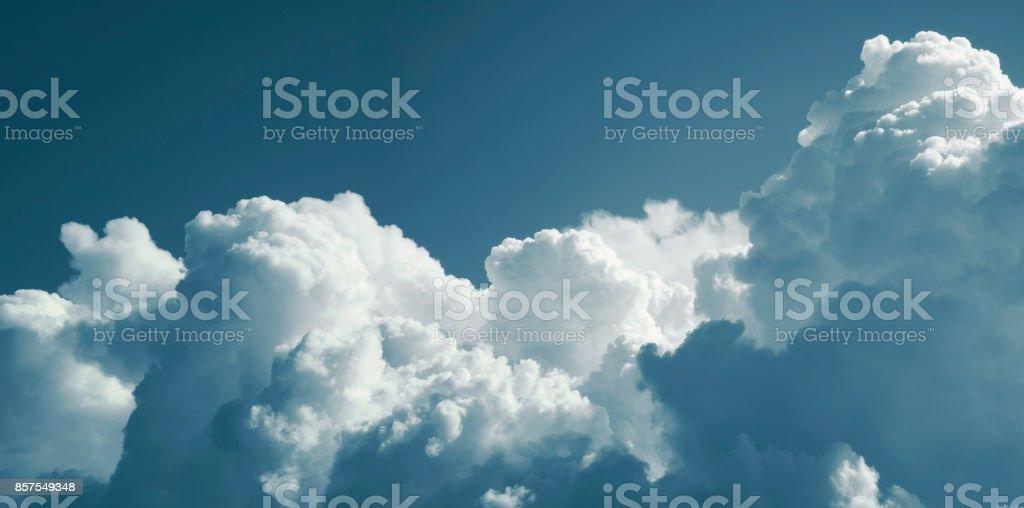 Cumulus cloud. Panorama stock photo