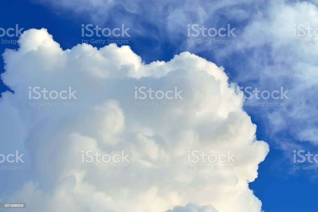 Cumulus cloud stock photo
