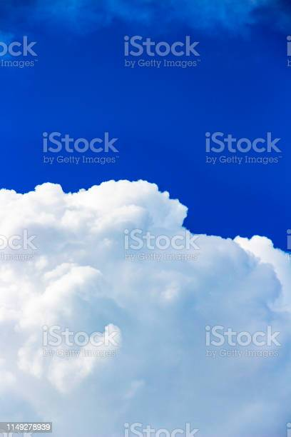 Photo of Cumulus cloud with a blue sky