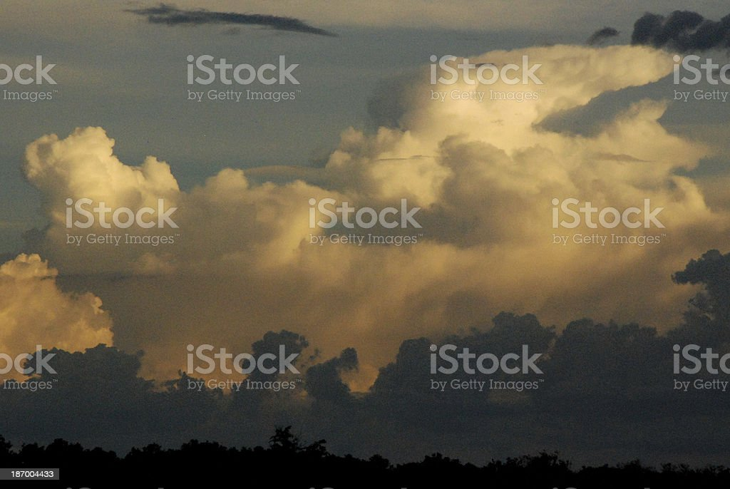 Cumulus Clouds Murchison Falls National Park Uganda Africa stock photo