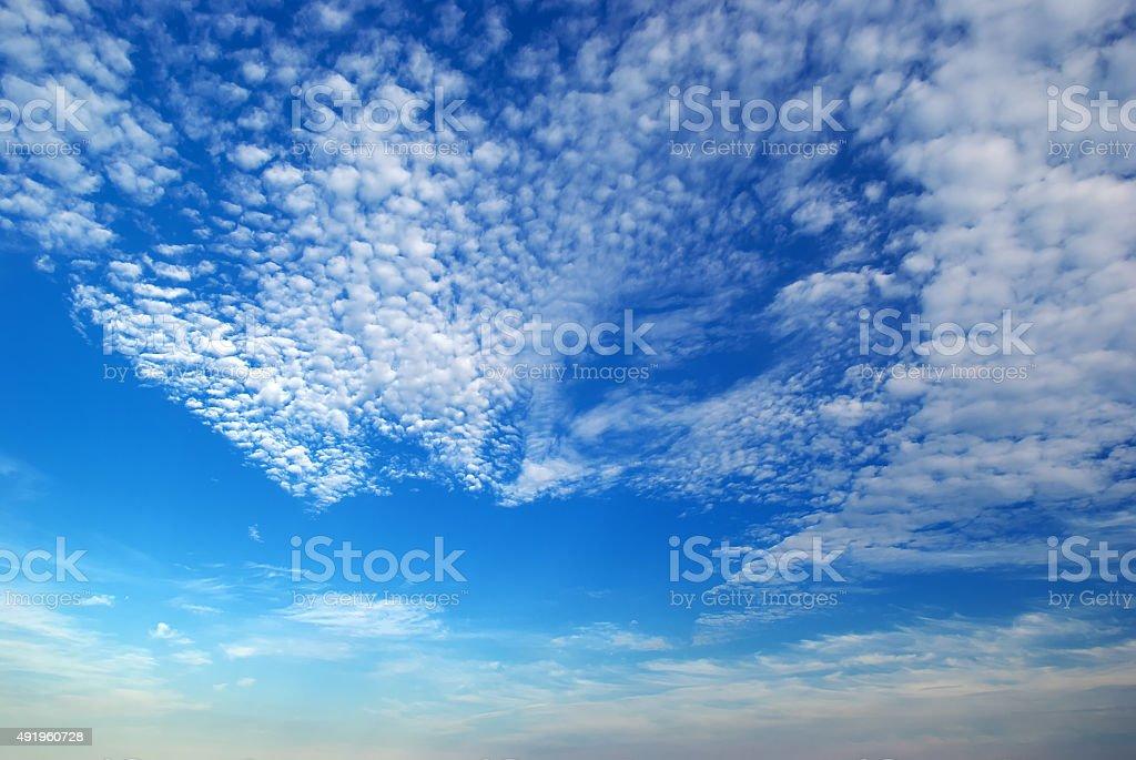 Cumulus clouds. stock photo