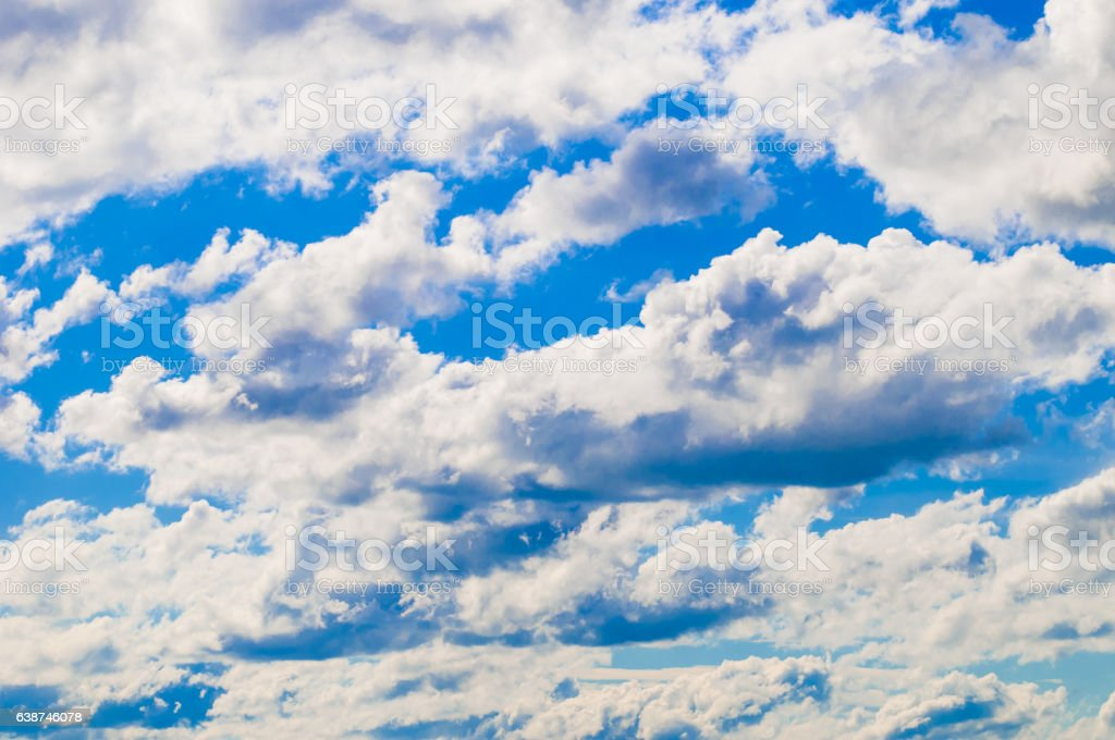 Cumulus clouds with blue sky stock photo