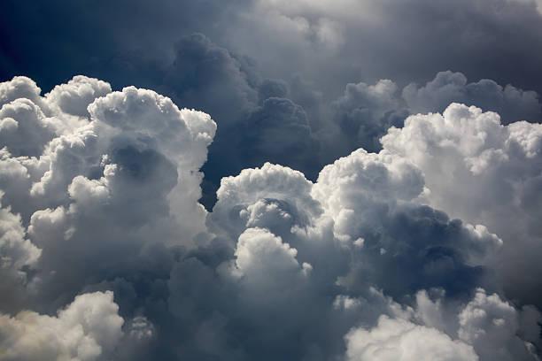 Cumulus Puffy Clouds stock photo