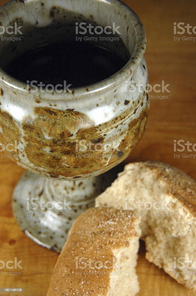 Cup and Bread royalty-free stock photo