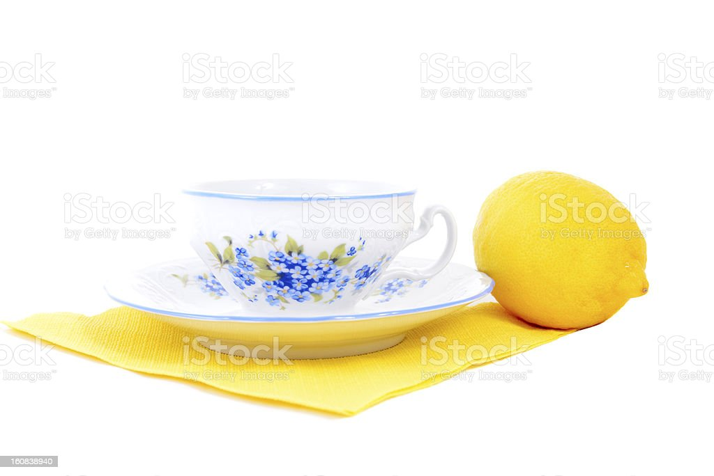 cup and lemon royalty-free stock photo