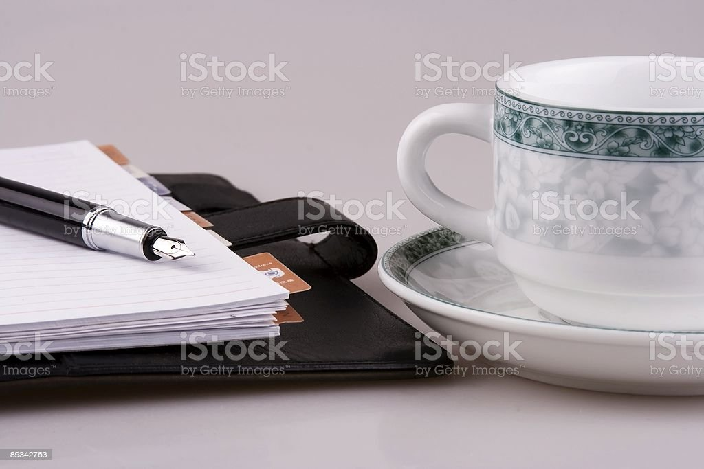 Cup and Organizer royalty-free stock photo