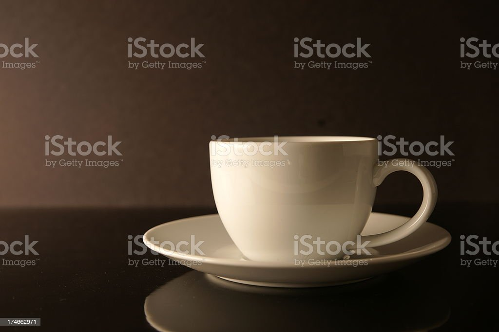 Cup and Saucer stock photo
