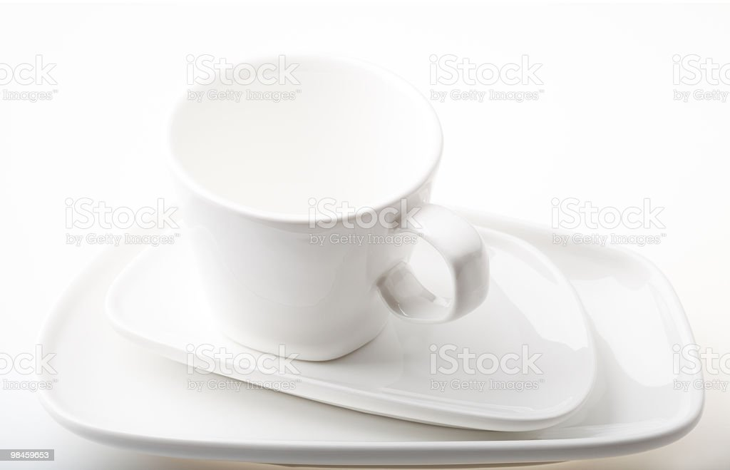 Tazza e piattini foto stock royalty-free