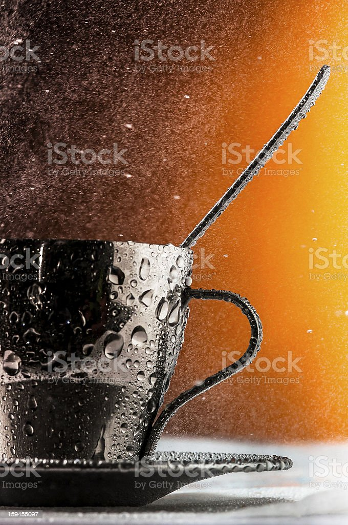 cup and spoon royalty-free stock photo