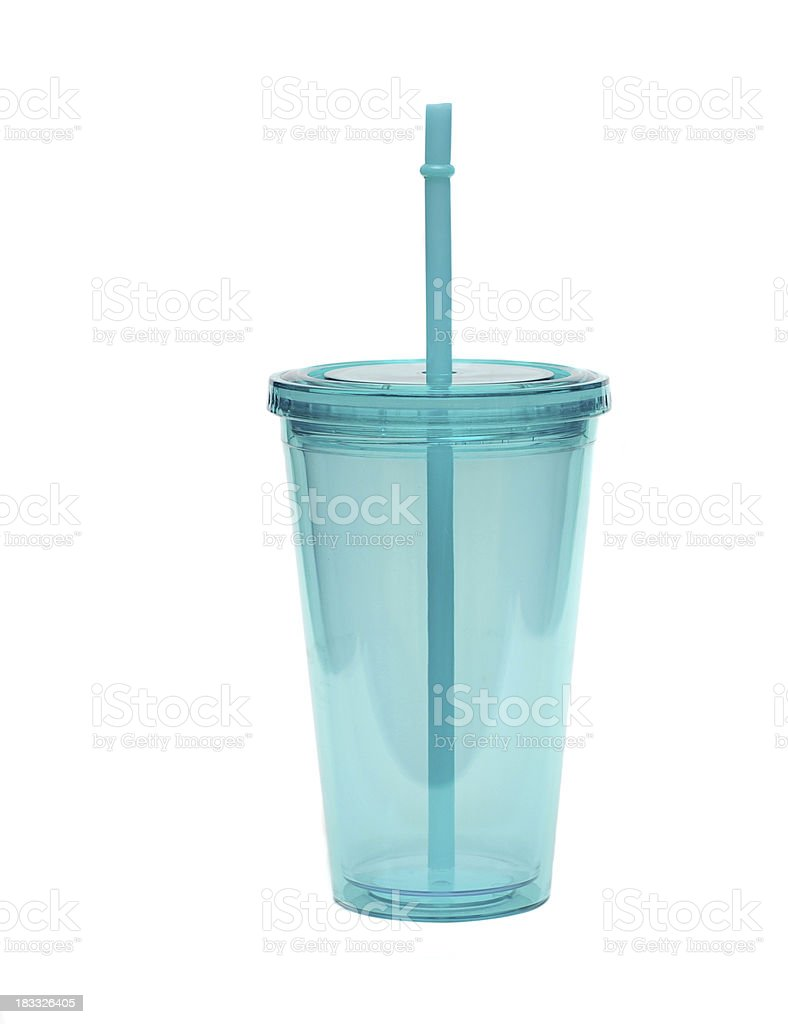Cup and Straw stock photo