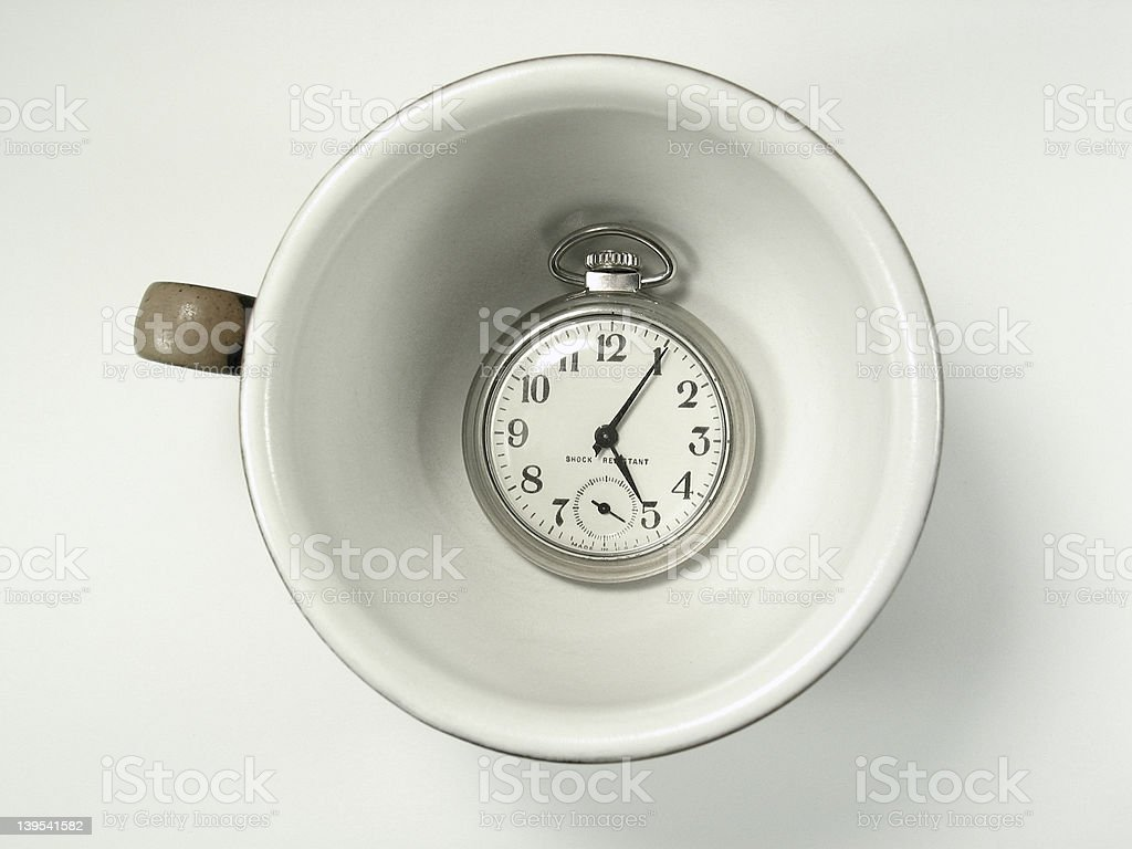 Cup and Time stock photo