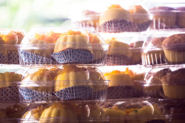 Cup cake in package stock photo